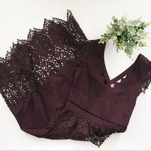 Miss Selfridge ASOS Mixed Lace Peplum Dress